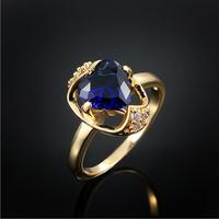 Fine fake blue sapphire rings latest gold rings design for women