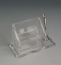 Clear Acrylic Holder for Pen and Business Card