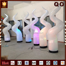 Attractive special S shaped outdoor advertising inflatable lighting tower with led wholesale