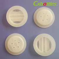 Plastic air valve for zip lock coffee bag