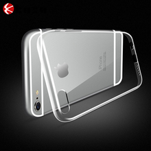 Ultra thin comprehensive design convenient for iPhone 6 crystal clear full protect integrated glittering weightless phone case