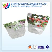 Food grade fruit plastic packing bag with zipper lock