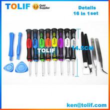 Hot 16 in 1 Mobile Phone Disassemble Tools Repair Kit Versatile Screwdriver Set for iPhone 4/4S/5s, for samsung repair tools