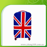 Candy Color Elastic Travel National Flag Luggage Bag Cover