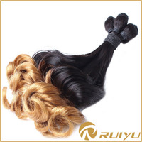 Top quality funmi blonde 1b 613 two tone synthetic ombre marley hair braid