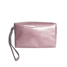 beautiful basics pink bling glitter cosmetic bag with hand,waterproof cheap wholesale toiletry bags for girls