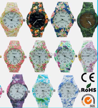 lady silicone geneva flower watch