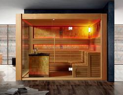 2015 Luxurious big sauna room,sauna stove.2layers seat sauna house YH-1500
