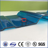 blue/green/grey/clear plastic pc lexan panel polycarbonate corrugated roofing sheet