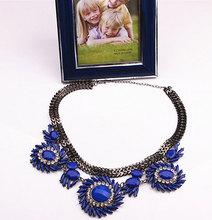 acrylic bead gun black plated new design statement necklace