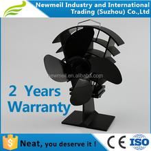 Newmeil nouveau design 4 noir lames poêle à bois ventilateur pour cheminée