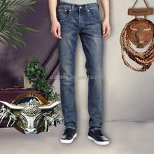 2015 Mens de moda pierna recta 100% algodón barato venta al por mayor Denim <span class=keywords><strong>Jeans</strong></span> para hombre