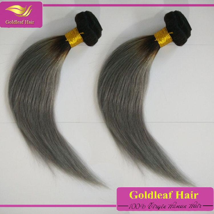 Dye Color Grey Hair Weave Virgin Unprocessed Gray Hair Bundles
