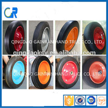 2 PR 4 PR 3.00-8 3.50-8 4.00-8 PU Solid Air Pneumatic Rubber wheel for Wheel barrow