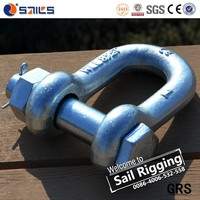 us type forged galvanized dee shackle