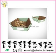 Factory Direct Cardboard Omega Raw Ripple Cat Scratcher