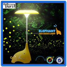 Hot Plastic cute usb rechargeable elephant lamp with fountain for sale, mini elephant arts and craft table lamp