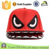Hengxing Shark Mouth Teeth Double Brim Trucker Hat Snapback Cap, Custom snapback cap, fashion snapback cap