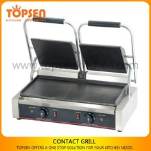 Commercial electric teppanyaki grill, teppanyaki grill table with oil collection pan