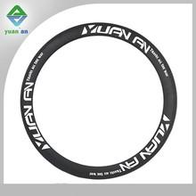 wholesale hot wheels chinese road bike rim 700c clincher road bicycle carbon clincher rims 50mm 3K 12K UD matte black
