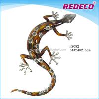 Artificial animal metal wall hanging lizard garden art