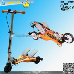 145mm PU flashing three wheel kick scooter pedal folding scooter wholesale