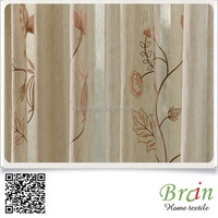 Hot Sell Poly/Linen Leave Jacquard curtain
