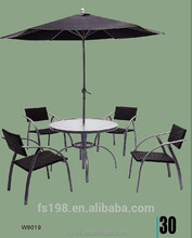 4 chair outdoor rattan furniture set
