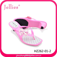 Hot selling PVC high heel slipper flip flop for lady's