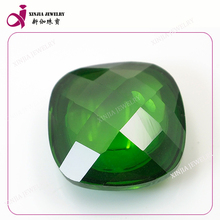 Wholesale square loose CZ gemstone single side cutting emerald gemstones