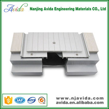Outdoor metal expansion joint cover in construction materials