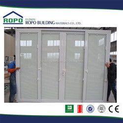PVC white frame sliding exterior louvered door