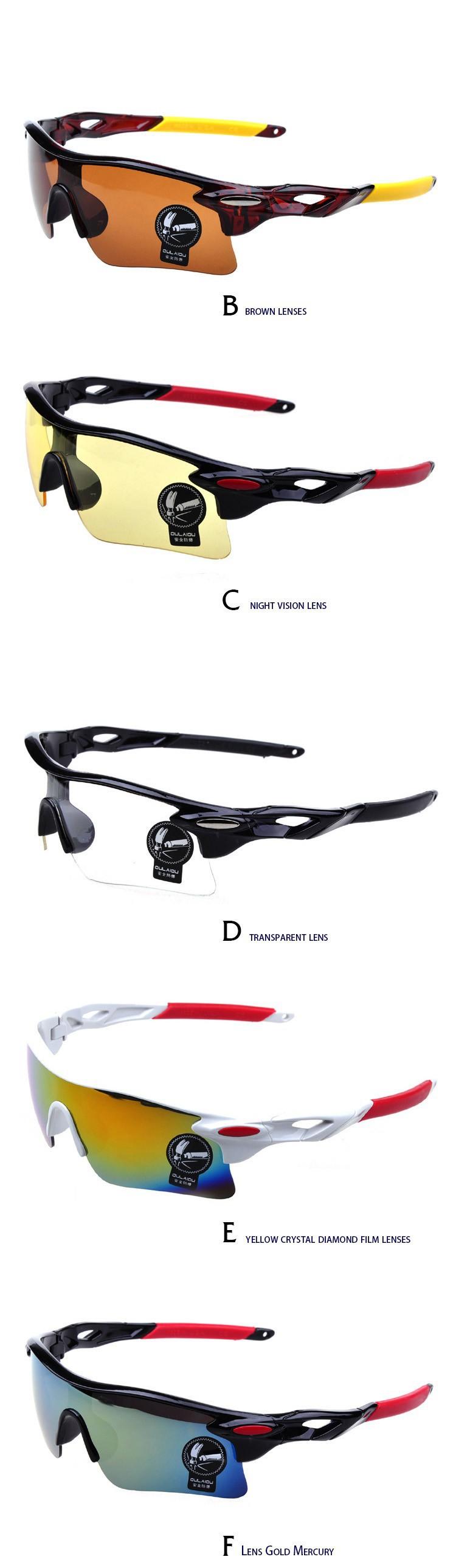 1 Set 2014 Men Cycling Glasses Fashion UV400 Outdoor Sports Eyewear