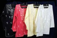 Buy Online Cotton Chicken Design Kurti / Tunic