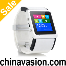 Android Smart Watch with 1.54 Inch Screen, Dual Core CPU, Bluetooth 4.0, Wi-Fi, GPS (White)