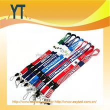 Fashionable mobile phone neck lanyard, printed polyester custom lanyard