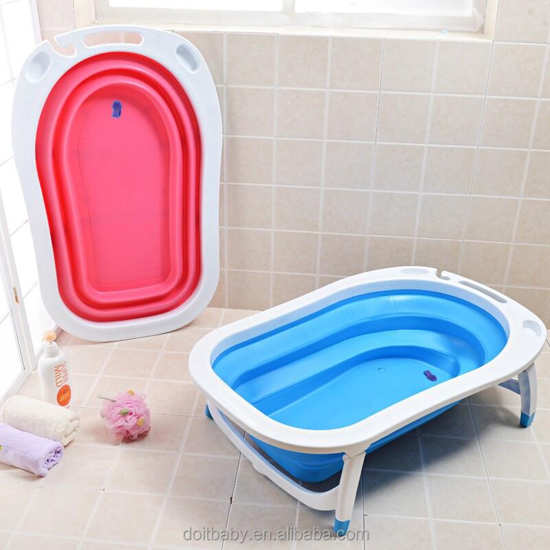 Kids Folding Portable Bathtub Infant Bath Tub Baby
