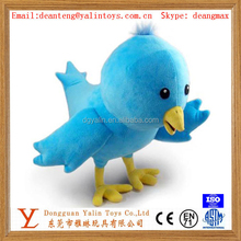 OEM custom interesting design plush electronic singing bird stuffed toy for kids meet EN71&ASTM&3C
