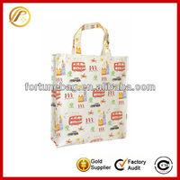 Custom cotton coated pvc shopping bag