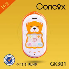 Concox Direct manufacture Small Dimension Baby Bear GPS Kids Phone GK301 Tracking Device for Children