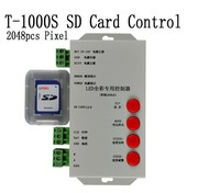 T1000 T-1000S SD Card WS2801 WS2811 WS2812B LPD6803 LED 2048 Pixels Controller DC5~24V # Gray