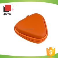 PU Leather Exterior Triangular Style Hands Headset Earphone Case Hard EVA Case