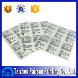 Cheap Hot Waterproof Adhesive Labels Cosmetic