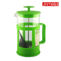 promotion coffee press, glass coffee maker, customize color coffee pot