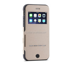Factory price mobile phone flip leather case for iphone 5 6 6plus