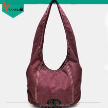 Canvas rivet women fashion hand bags 2015 alibaba supplier new trend girls bag