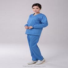Uniforme de la enfermera de matorral de manga larga uniforme de la enfermera