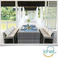 Outdoor PE rattan garden courtyard hotel balcony dining table set/Space saving rattan furniture sets