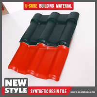 portuguese clay red synthetic resin metal roof tile for sunshine house