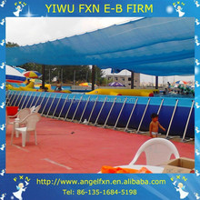 Above ground metal frame swimming pool